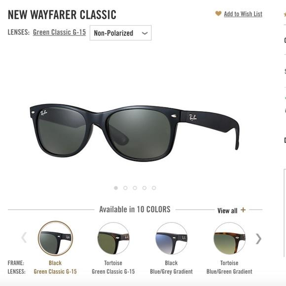 db5942cc7866 New Wayfarer Classic Ray-Bans. M 5c48a0bdc617779229a4f7d4